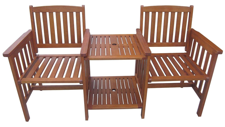 gartenbank mit integriertem tisch rite season eukalyptus. Black Bedroom Furniture Sets. Home Design Ideas