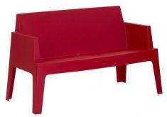 Gartenbank Rot Kunststoff