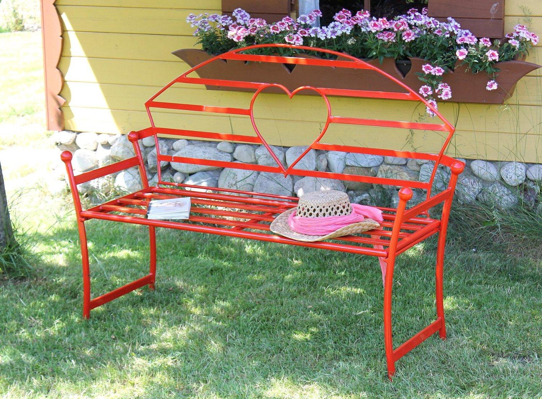 Gartenbank Rot Metall