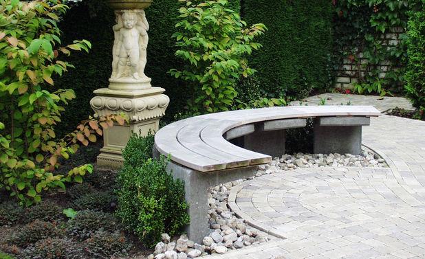 Gartenbank Selber Bauen Stein Kreis