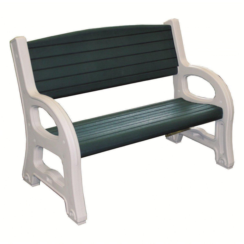 Gartenbank Weiß Kunststoff 2 Sitzer Profiline Grun
