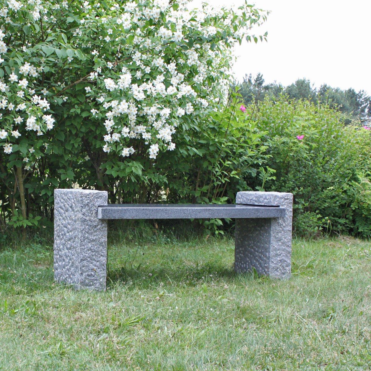 Granit Gartenbank Aufbauen Natur Stein