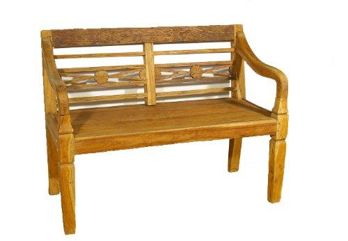Kleine Gartenbank 2 Sitzer Antikdesign Divero