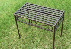 Kleine Gartenbank Metall Beistelltisch Versailles Still Antiker