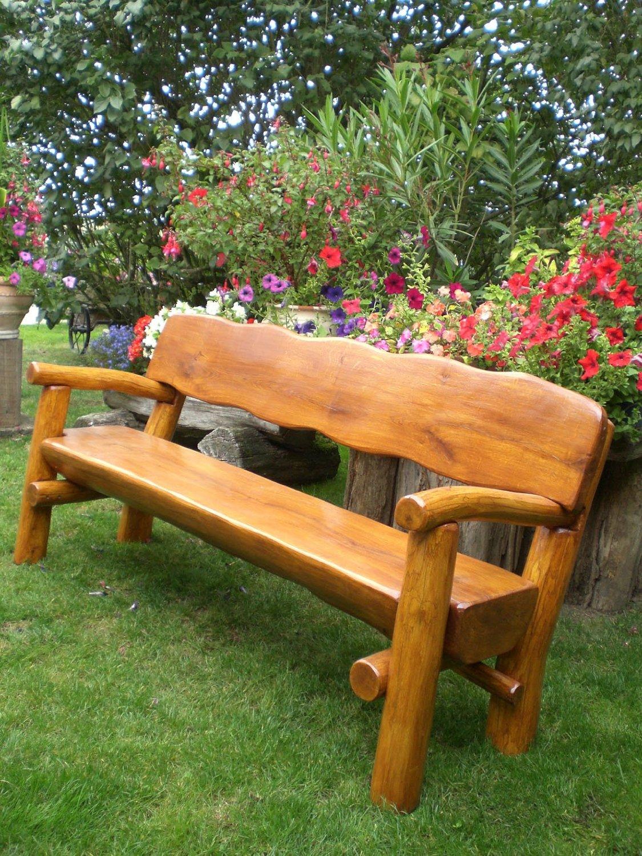 Massive Gartenbank Bauen Holz