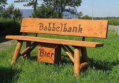 Massivholz Gartenbank Babbelbank