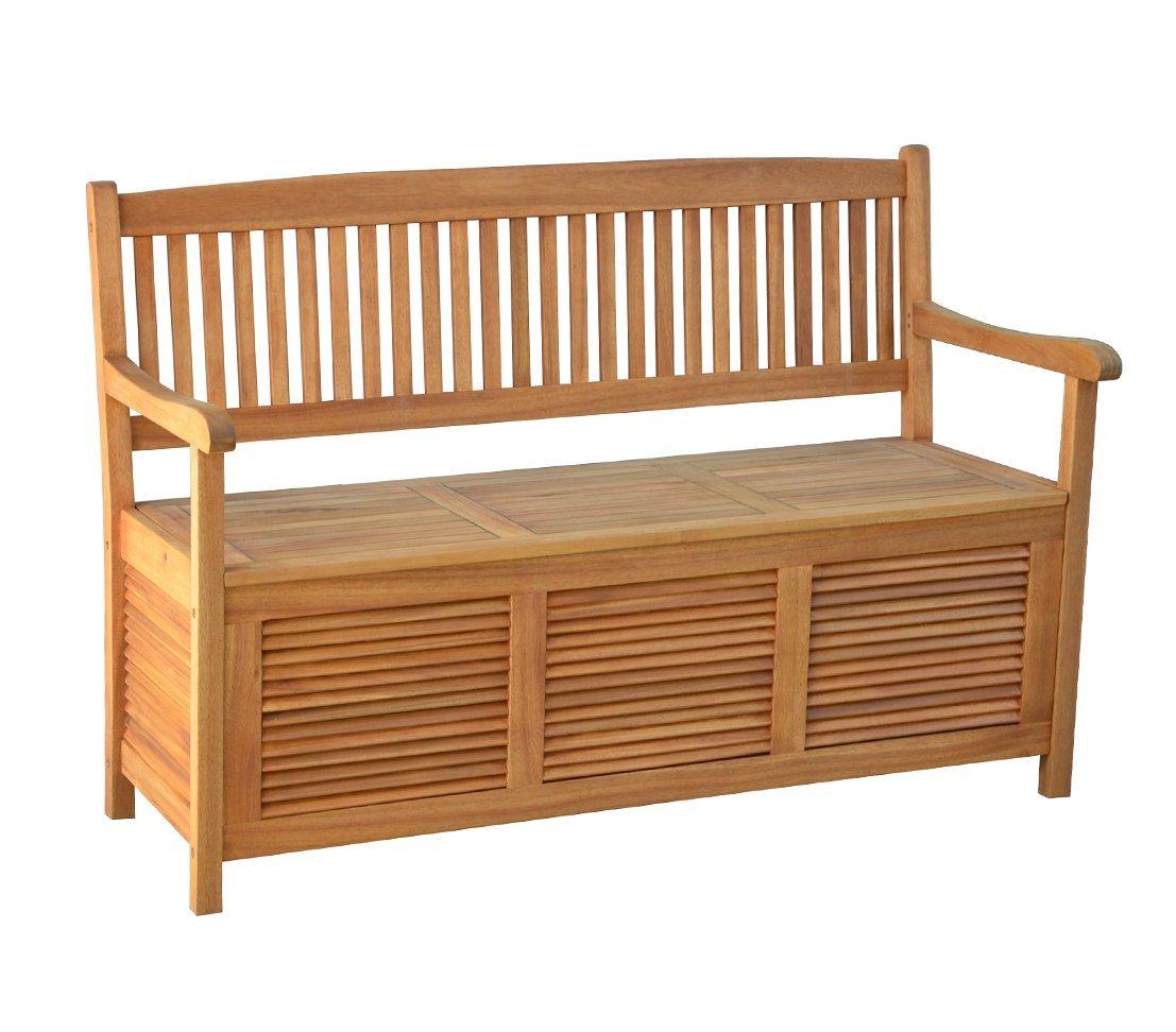 Massivholz Gartenbank Mit Stauraum 3 Sitzer Dehner Truhenbank Windsor Natur Akazienholz