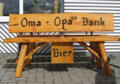 Rundholz Gartenbank Massivholz Fichte Bierfach