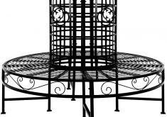 Design Gartenbank Metall Baumbank