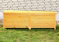Designer Bank Garten Auflagenbox Holztruhe