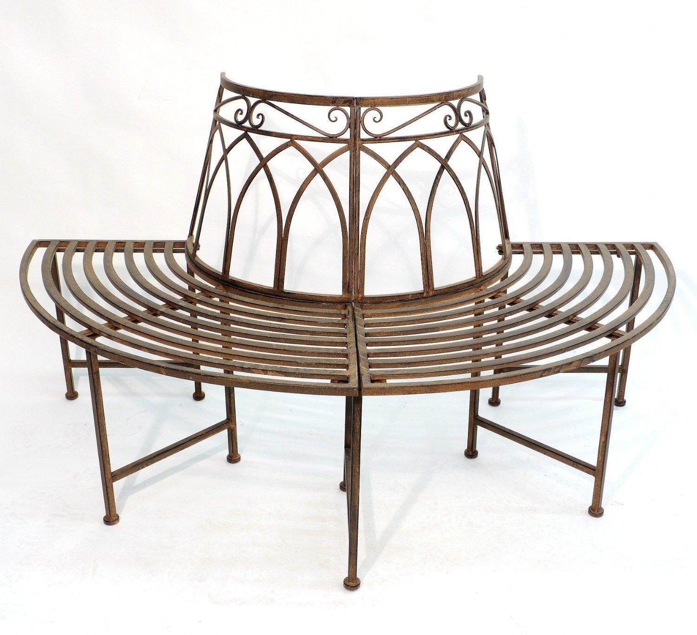 Gartenbänke Halbrund Metall Sitzbank