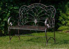 Gartenbank Antik Eisen Vogel Nostalgie