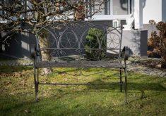 Gartenbank Antik Schweiz Vogel Verzierung