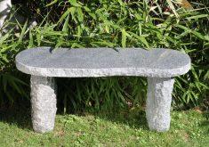 Gartenbank Antik Stein Granit Model Arlberg Dunkelgrau
