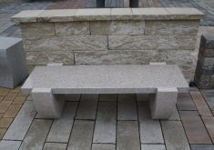 Gartenbank Edelstahl Granit Naturstein Tonga