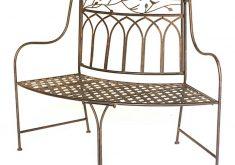 Gartenbank Eisen Halbrund Metal Breite Rimantische