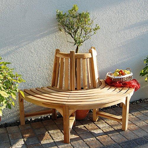 Gartenbank Halbrund Holz Halber Kreis Breite Baumbank