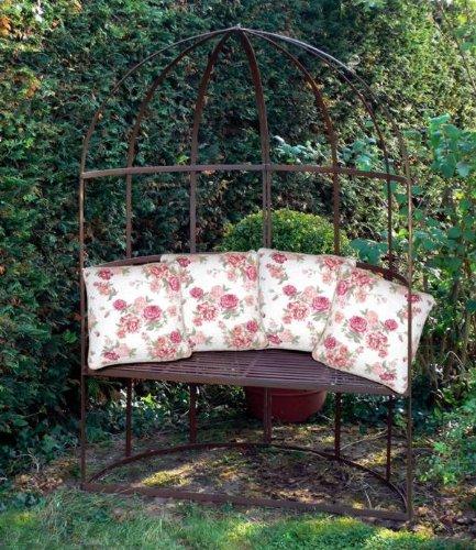 Gartenbank Halbrund Metall Country Laube Cotswolds
