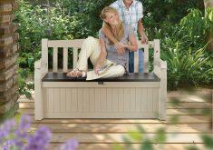 Gartenbank Holz Kunststoff