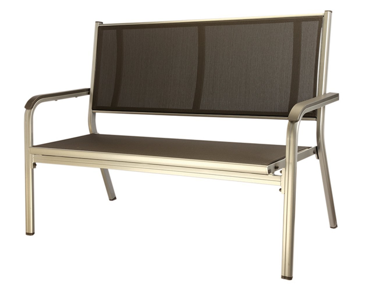 Gartenbank Kunststoff Kettler 2 Sitzer Basic Silber Anthrazit