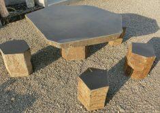 Gartenbank Und Tisch Aus Granit Stein