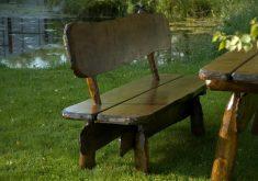 Holz Gartenbank Rustikal