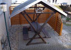 Überdachte Gartenbank Merzen Kaufen Holz Rustikale