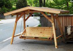 Gartenbank Mit Dach Überdachte