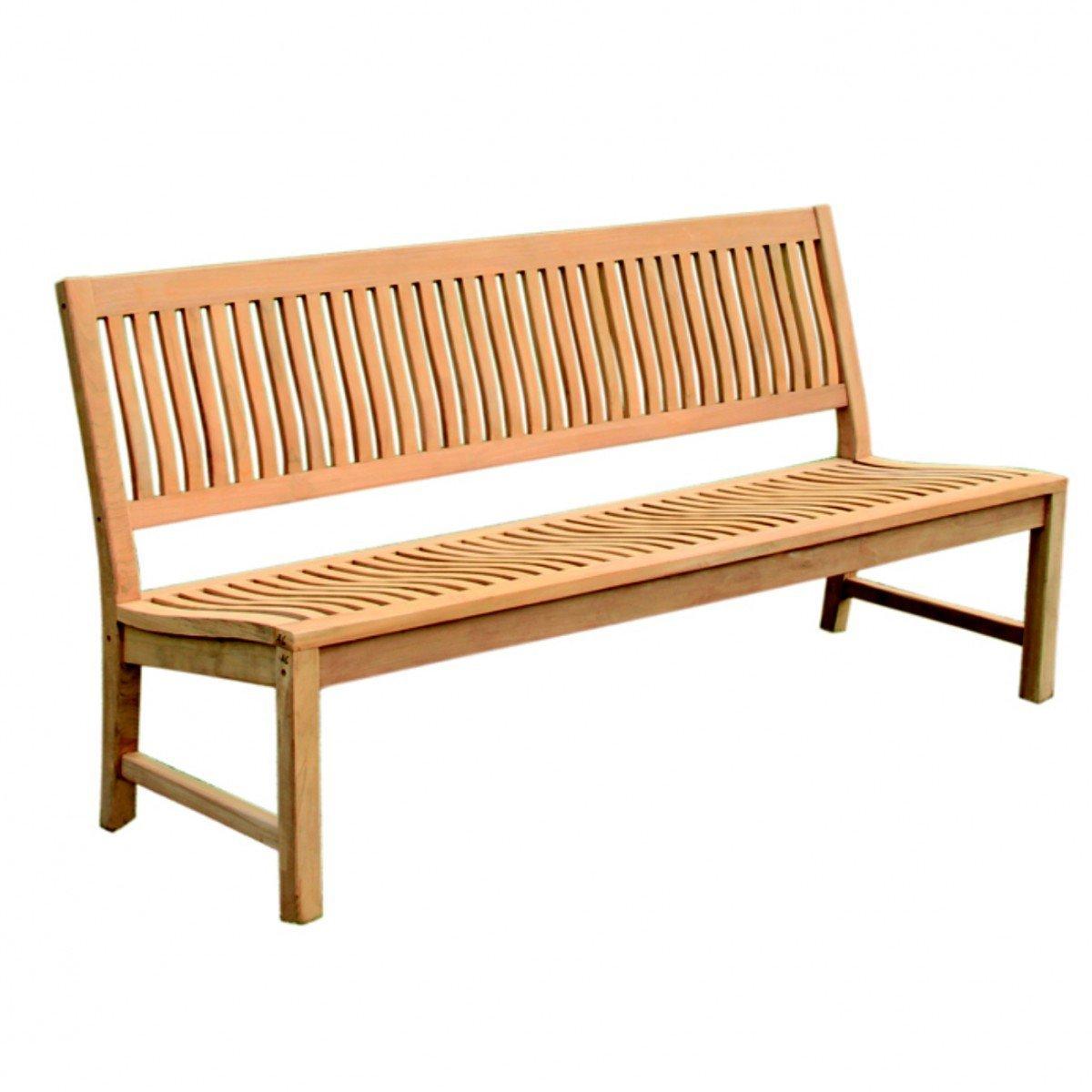 Gartenbank Teak Ohne Armlehne Holz Edelstahlschrauben