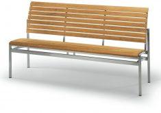 Moderne Gartenbank Ohne Armlehne Holz Metall