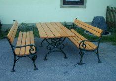 Gartenbank Holz Metall Antik