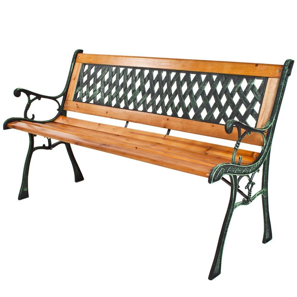 Gartenbank Holz Mit Metall