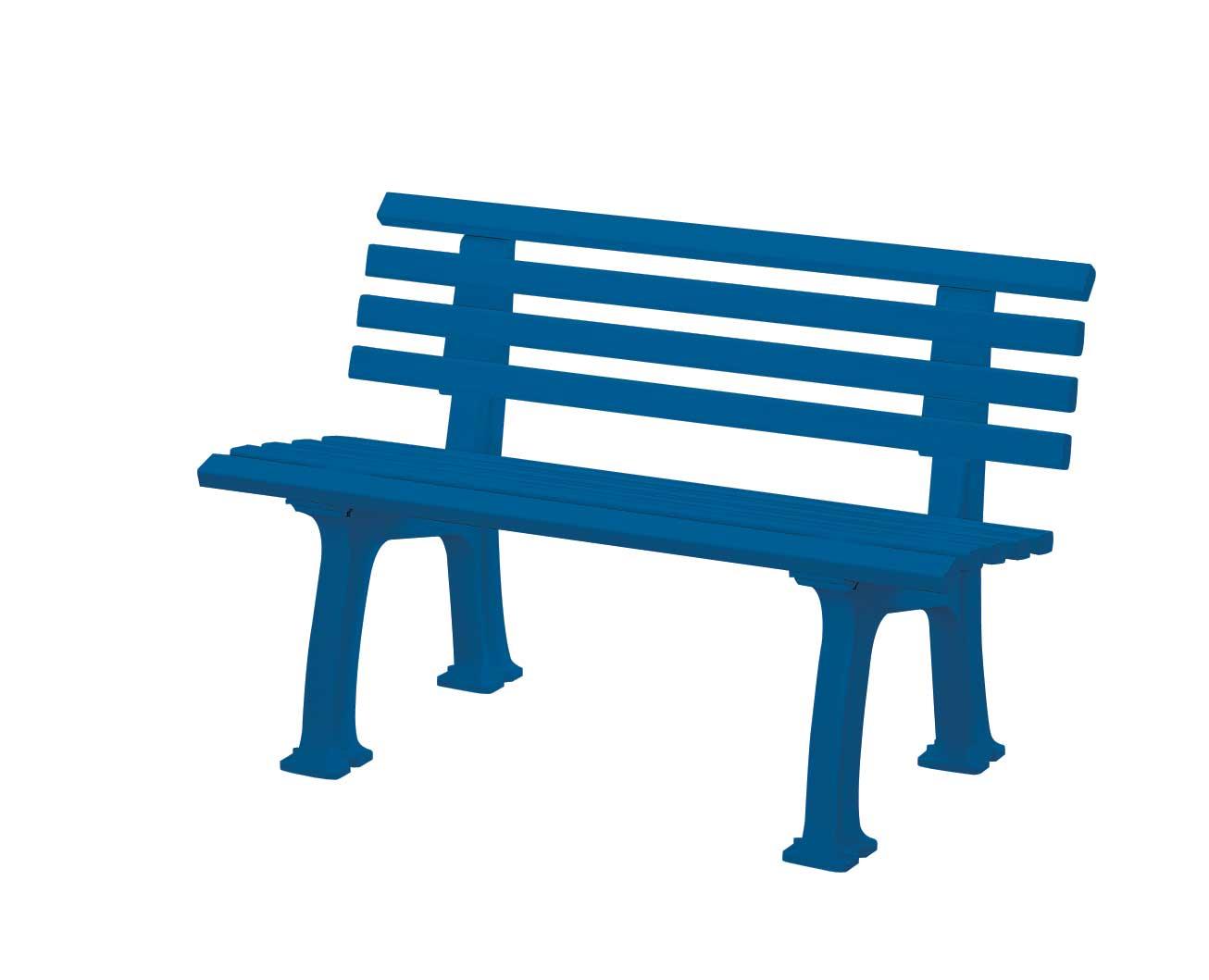 Gartenbank Metall Blau Ibiza Von Blome 2 Sitzer