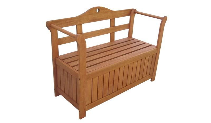 Gartenbank Truhe Holz
