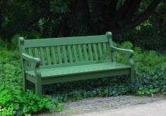 Gartenbänke Grün Rustikal Holz Massiv 3 Sitzer