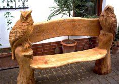 Gartenbank Abdeckung Mit Gravur Holzwerk Eulenbank