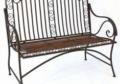Gartenbank Aus Metall Im Rosengarten Antik Möbel