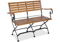 Gartenbank Aus Metall Und Holz Braun Modern Design