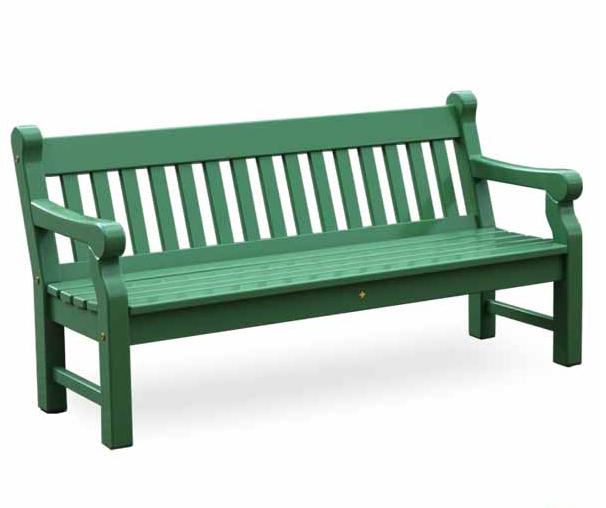 Gartenbank Grün 3er Kunststoffbank Und Holz Massiv