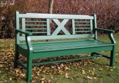 Gartenbank Grün Holz Massiv 2 Sitzer