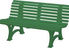Gartenbank Helgoland Grün 150 Cm