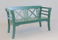 Gartenbank Holz 100 Cm Grun 2 Sitzer