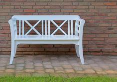 Gartenbank Holz Weiss