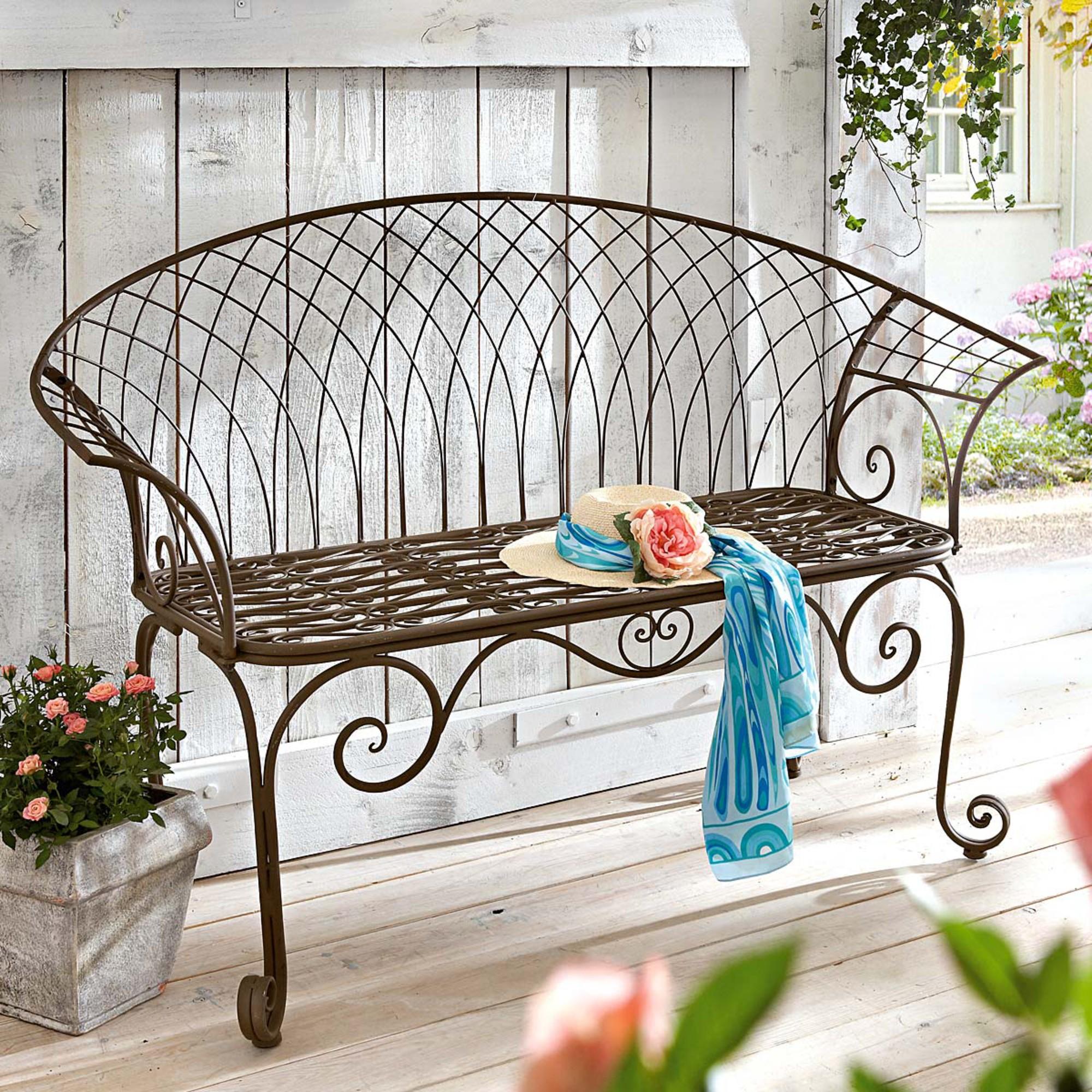 Gartenbank Metall Aldi 2 Sitzer