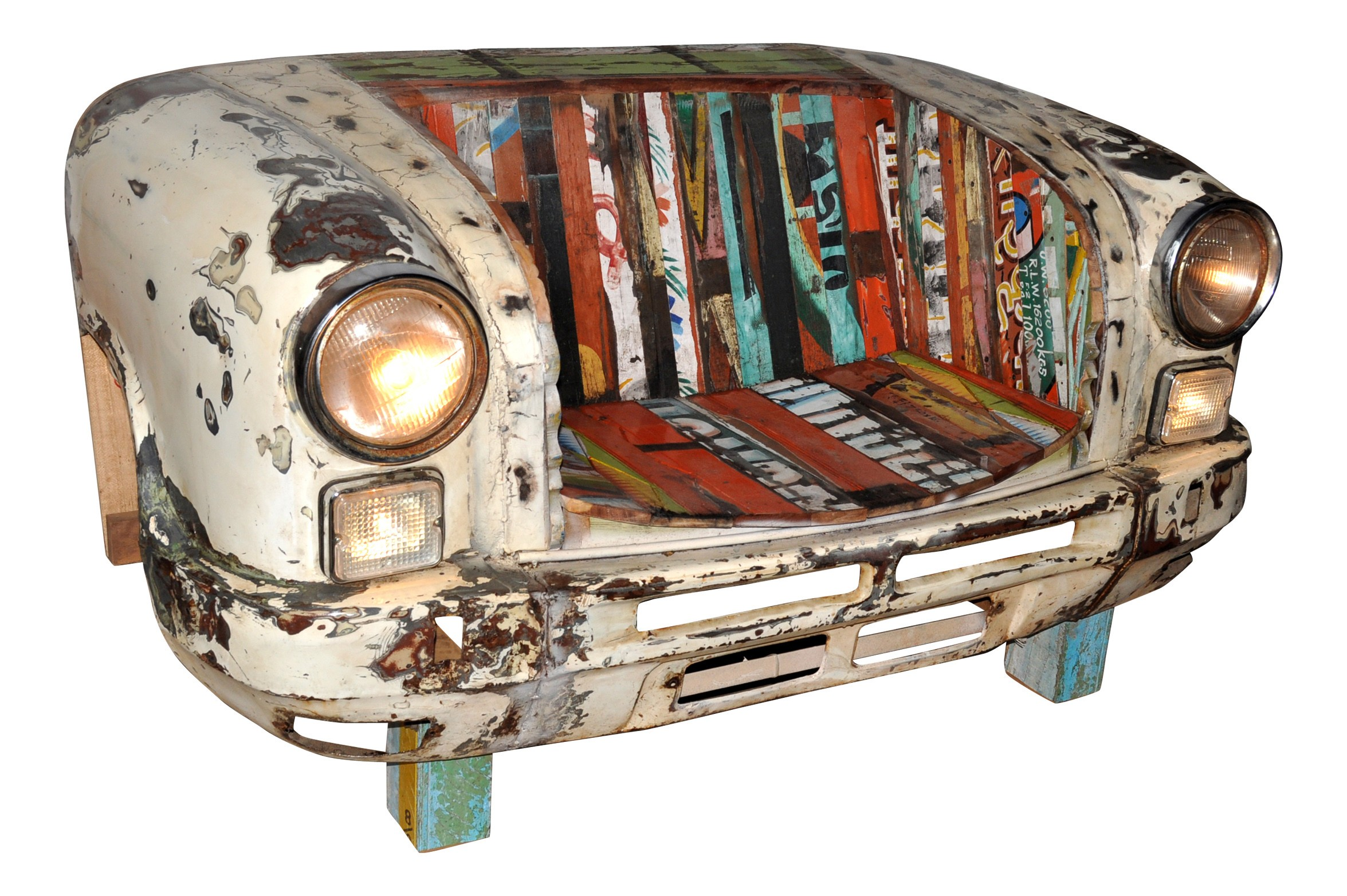 Gartenbank Metall Antik Auto Design