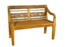 Gartenbank Mit Schnitzereien Divero Holz 2 Sitzer Antikdesign