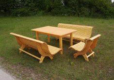 Gartenbank Modern Design Holz Grouppe Sitzer