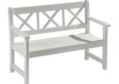 Gartenbank Weiß Holz 2 Sitzer