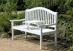 Gartenbank Weiß Holz Mit Klapptisch