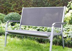 Gartenbank Wetterfest Aluminium Kettler Basic Plus 2er Silber Anthrazit